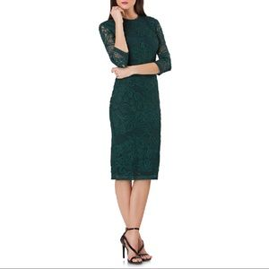 JS COLLECTIONS Soutache Sheath Dress In Forest MN5